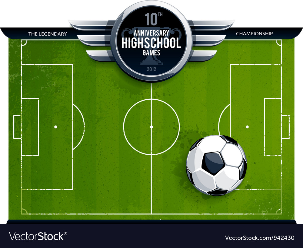 Grunge soccer field vector image
