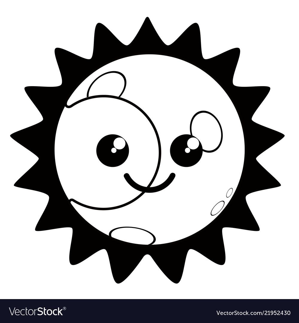 Abstract Cartoon Hand Drawn Decoration Sun Or Eye Symbol Stock Illustration  - Illustration of furniture, wall: 154999449