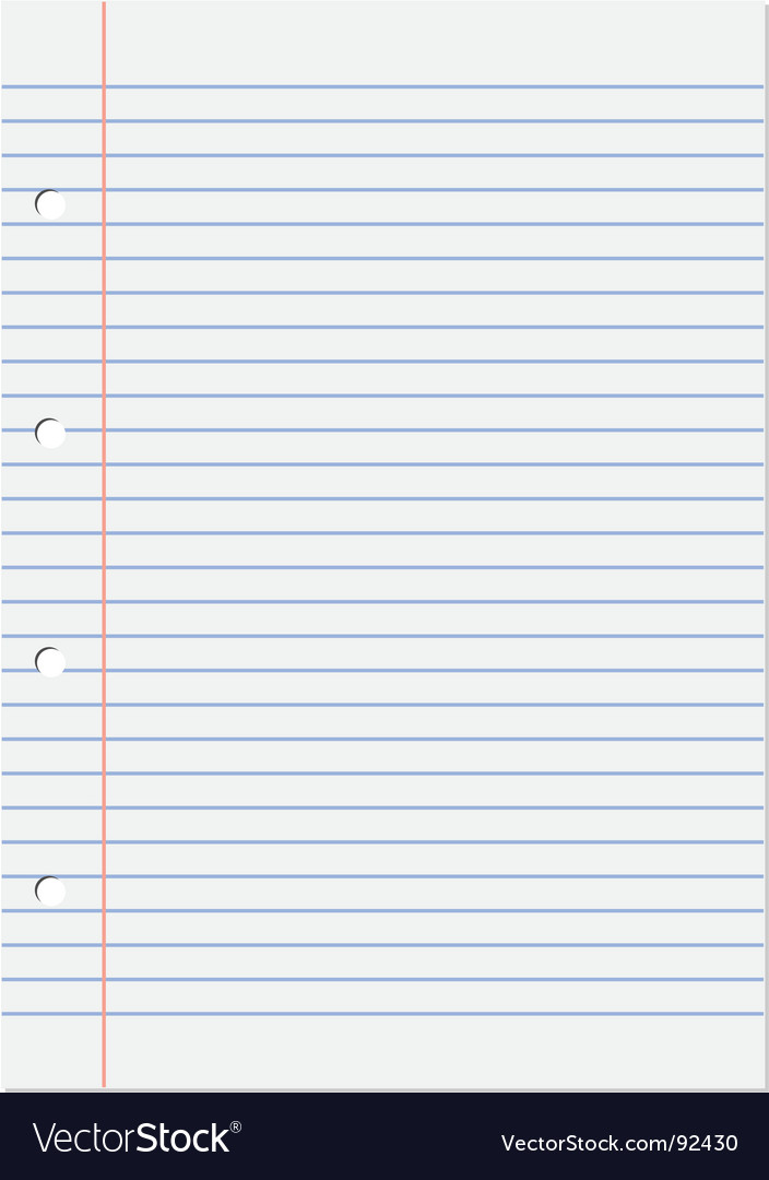 Notepad lined