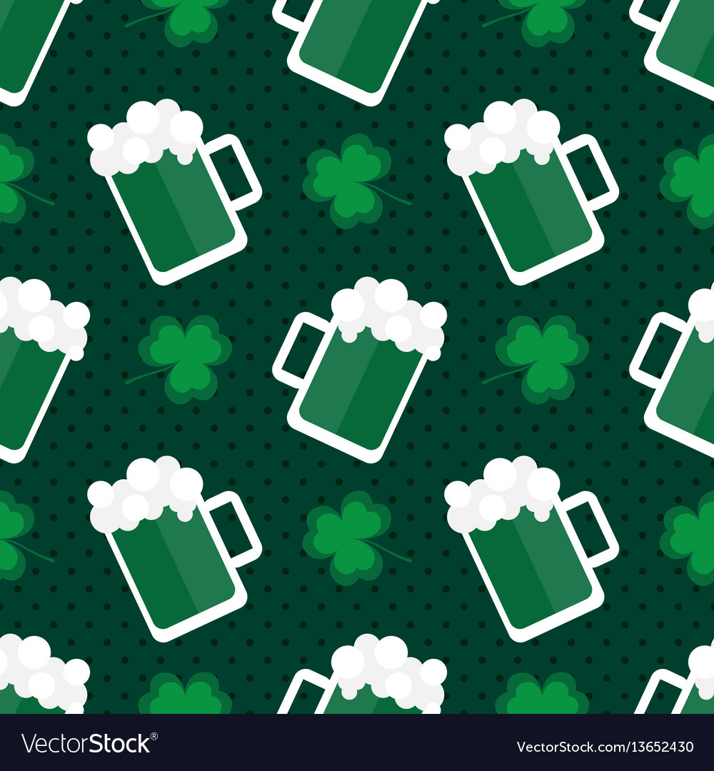 St patricks day seamless pattern background