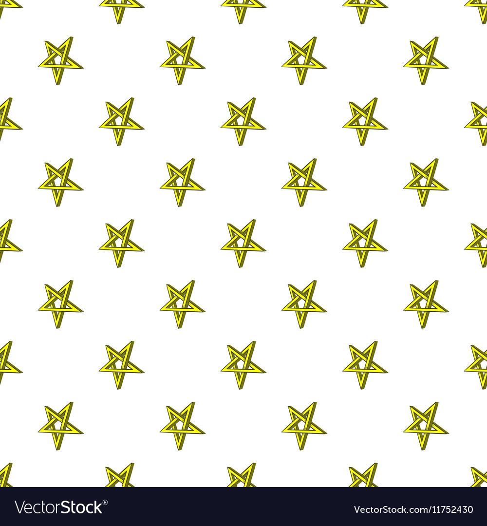 Star crossed pattern cartoon style