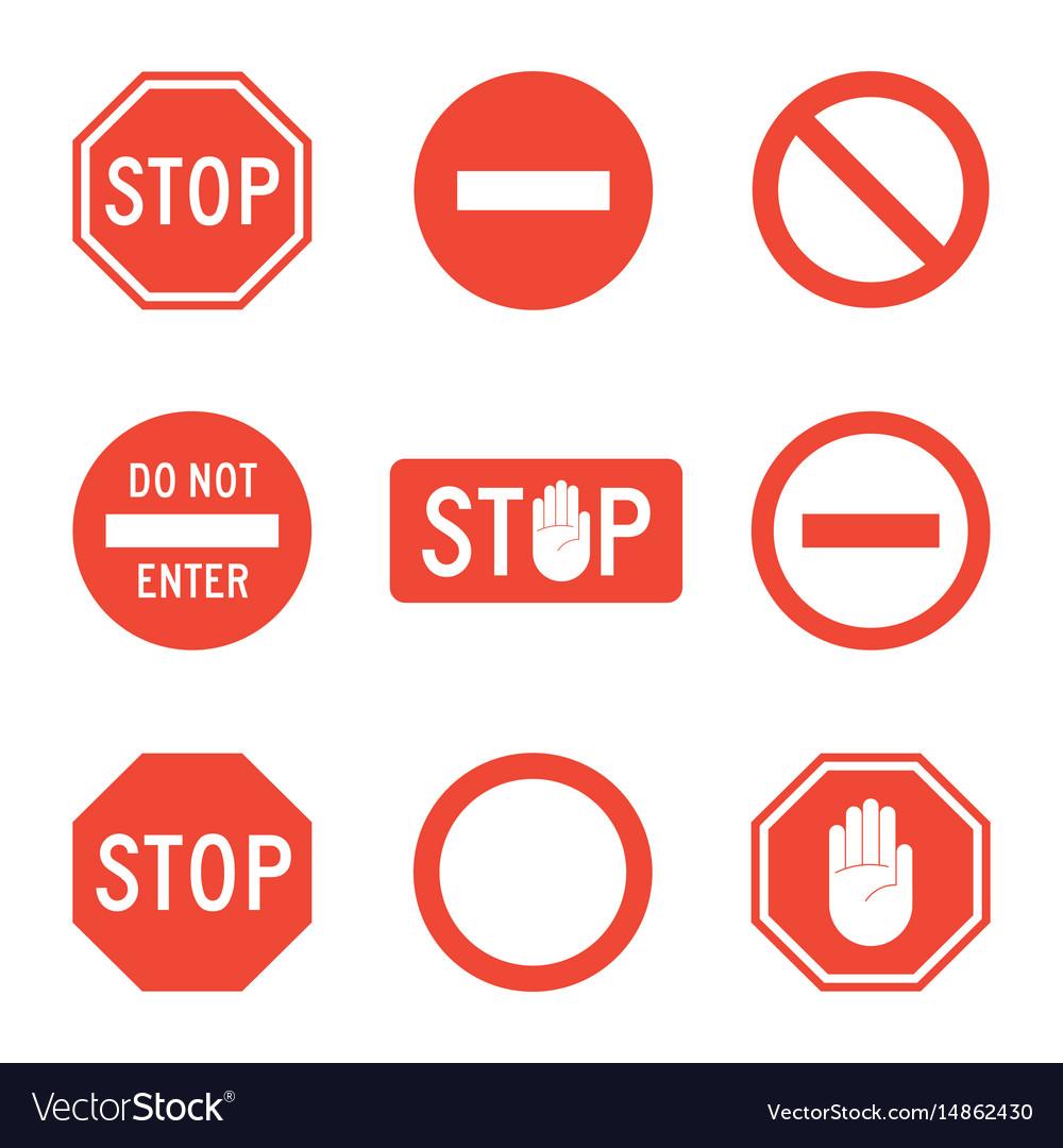 Stop signs set