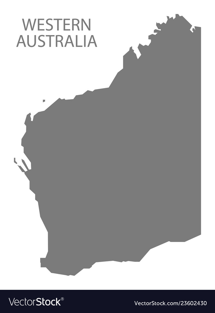 Australia Map Grey.Western Australia Map Grey Royalty Free Vector Image