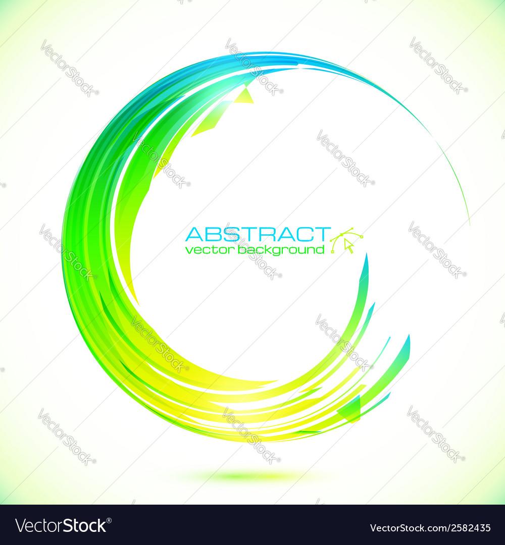 Abstract shining greencircle modern frame