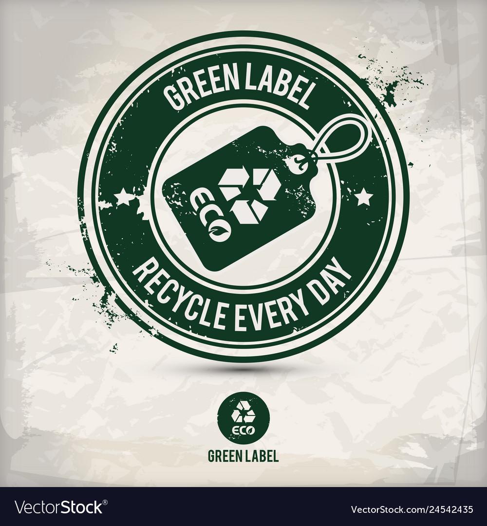 Alternative green label stamp