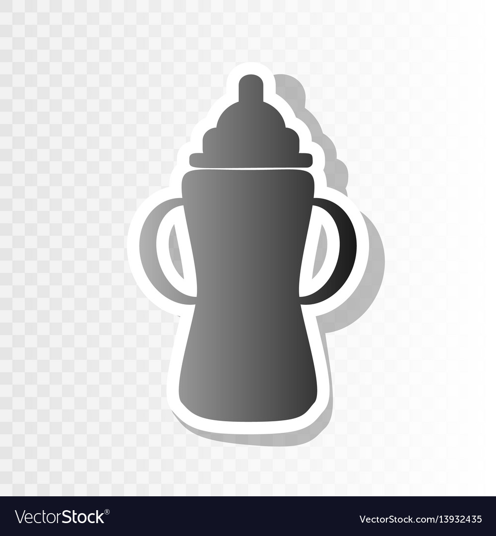 Baby bottle sign new year blackish icon vector image