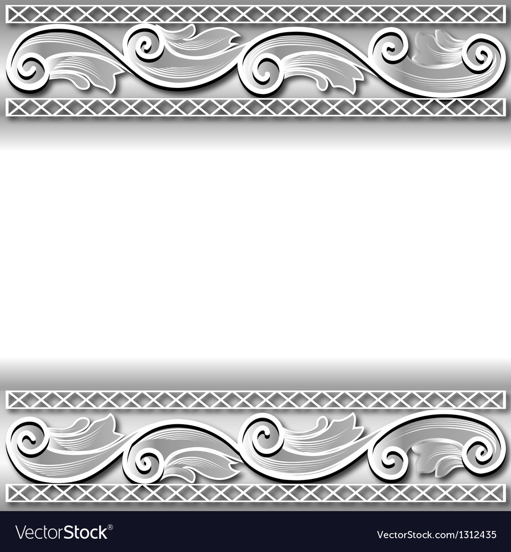 Background frame with a white paper ornament
