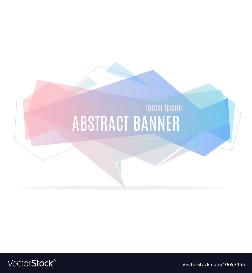 Banner Geometric Trendy vector image