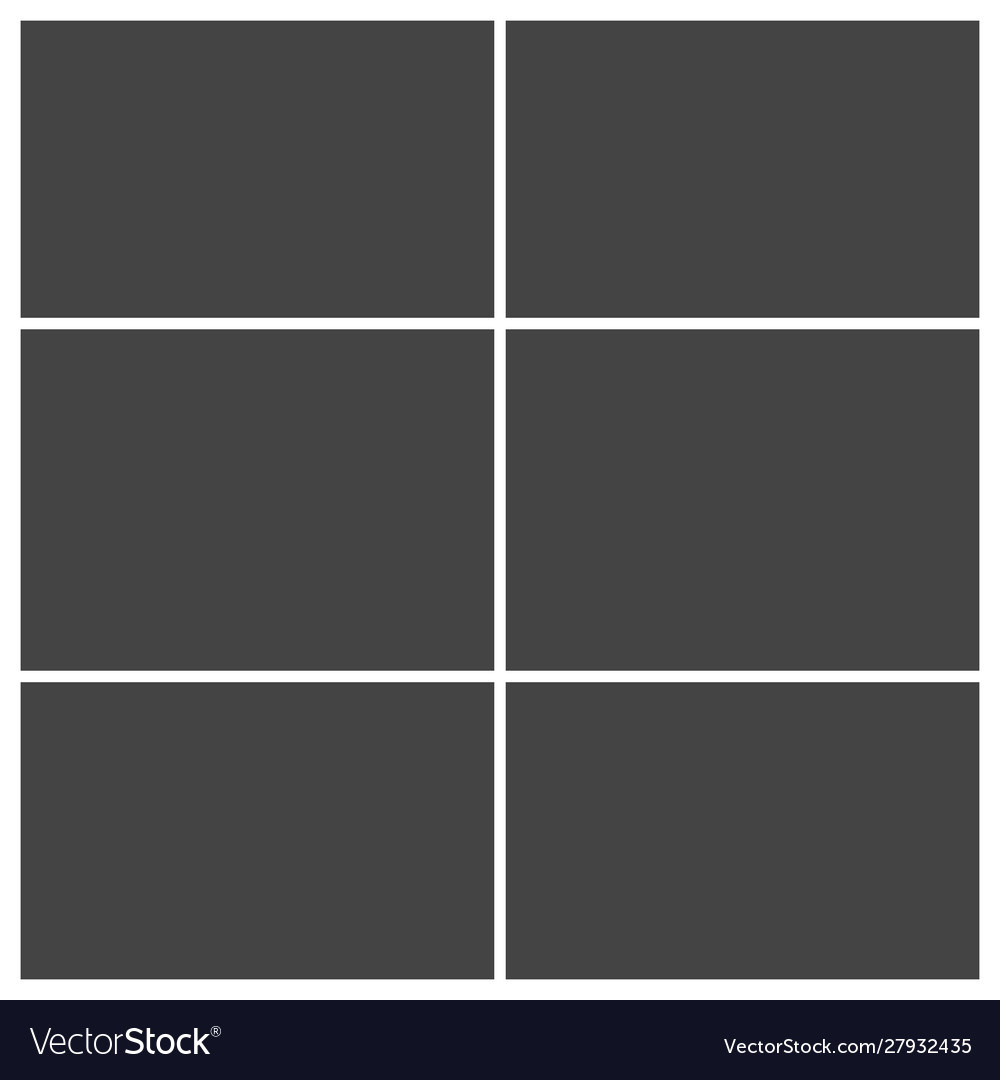 Frame For Photo Collage Or Picture Template