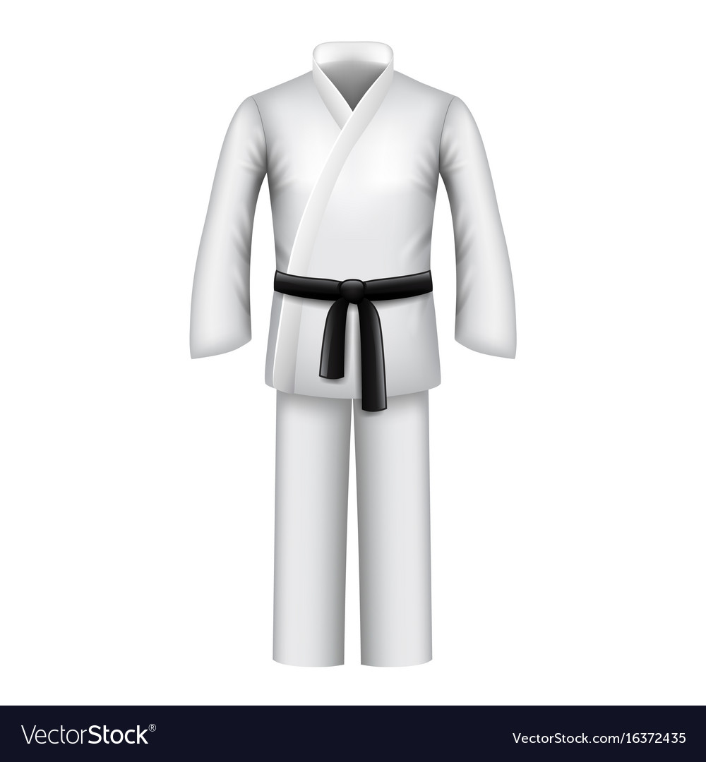 Karate kimono isolated on white