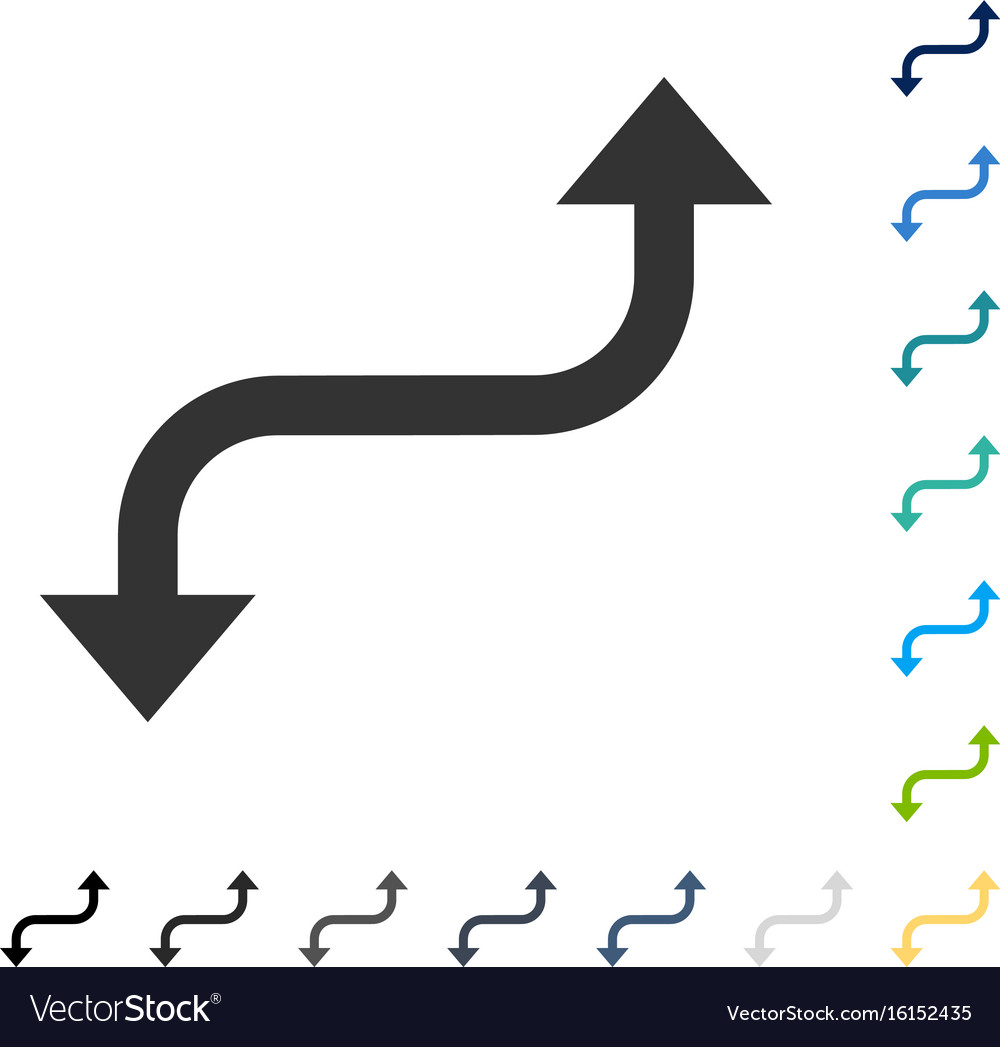 Opposite Curved Arrow Icon Royalty Free Vector Image