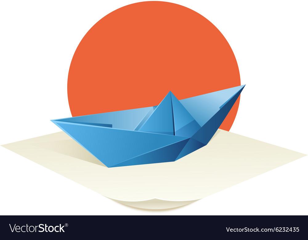 Origami Boat vector image