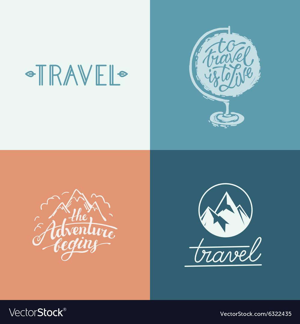 Set of hand-lettering designs