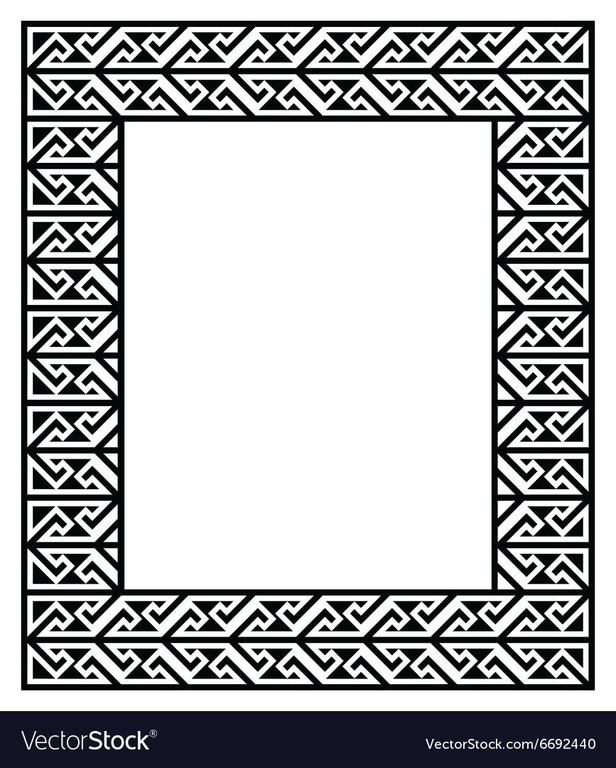 celtic key pattern frame border royalty free vector image rh vectorstock com celtic pattern border vector celtic border clipart vector