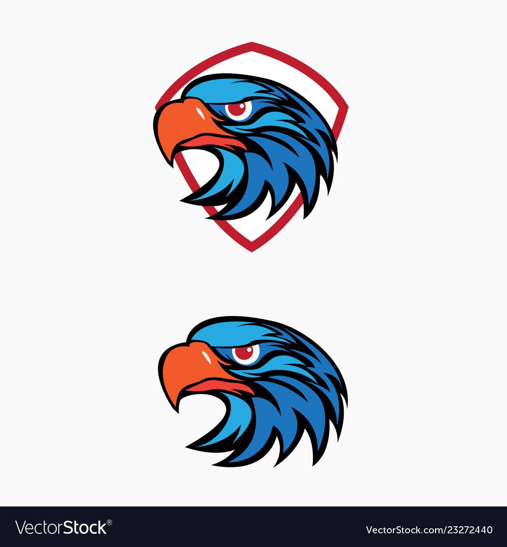 Eagle head logo set