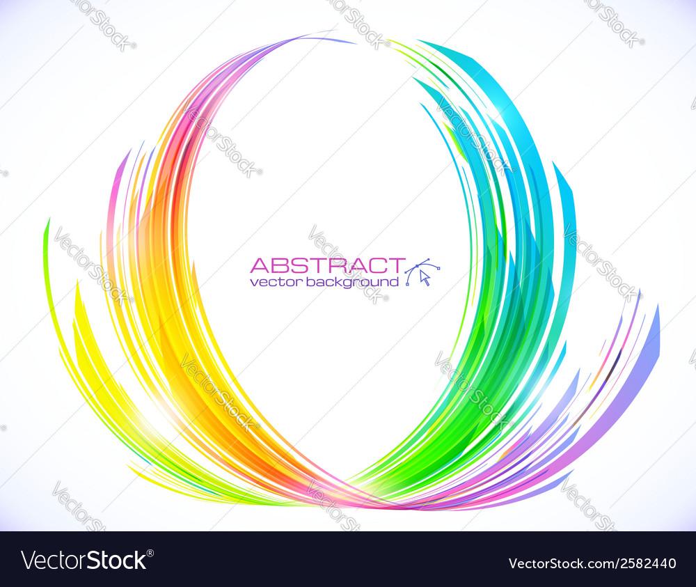 Rainbow colors abstract lotus flower symbol vector image mightylinksfo