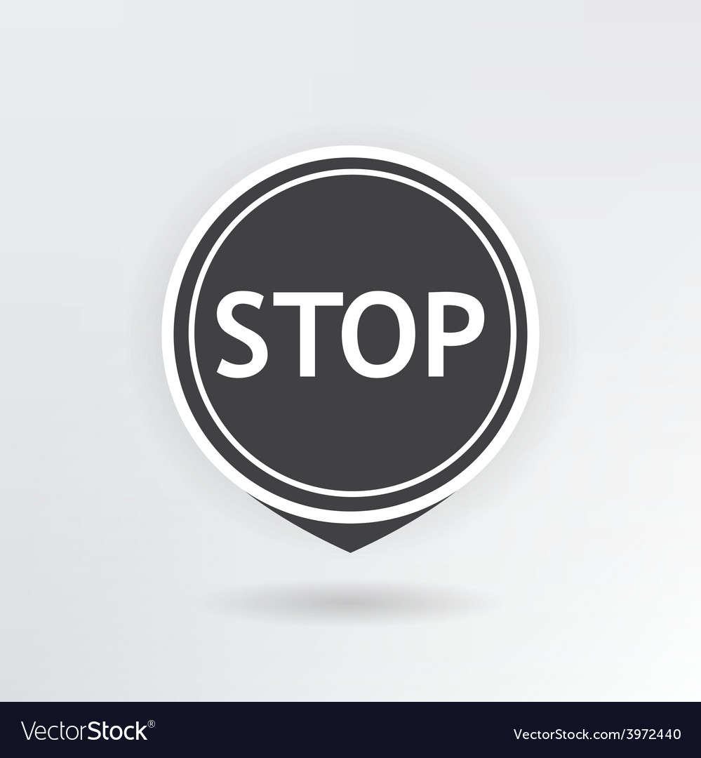 Stop map pointer