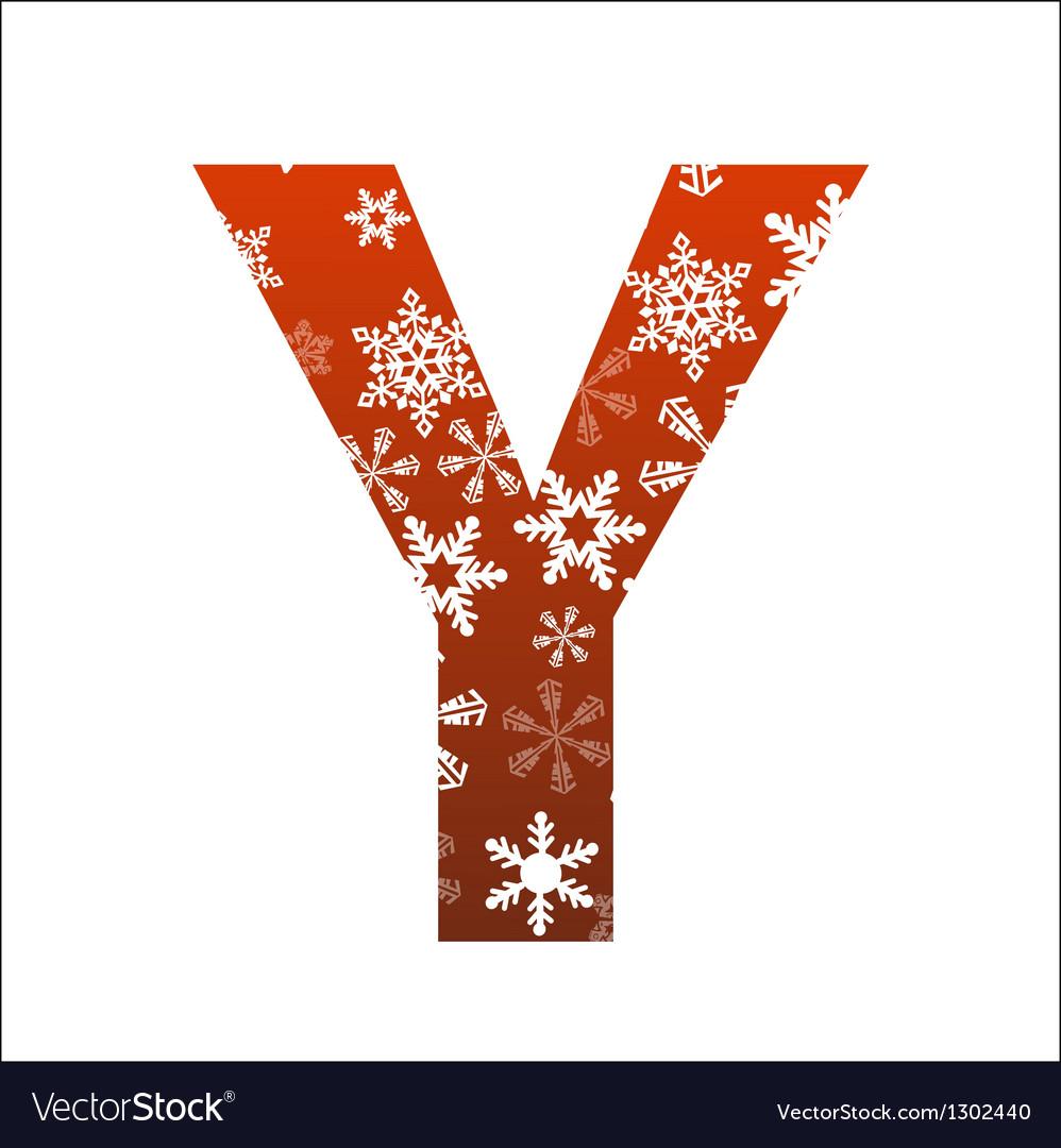 Y Letter vector image