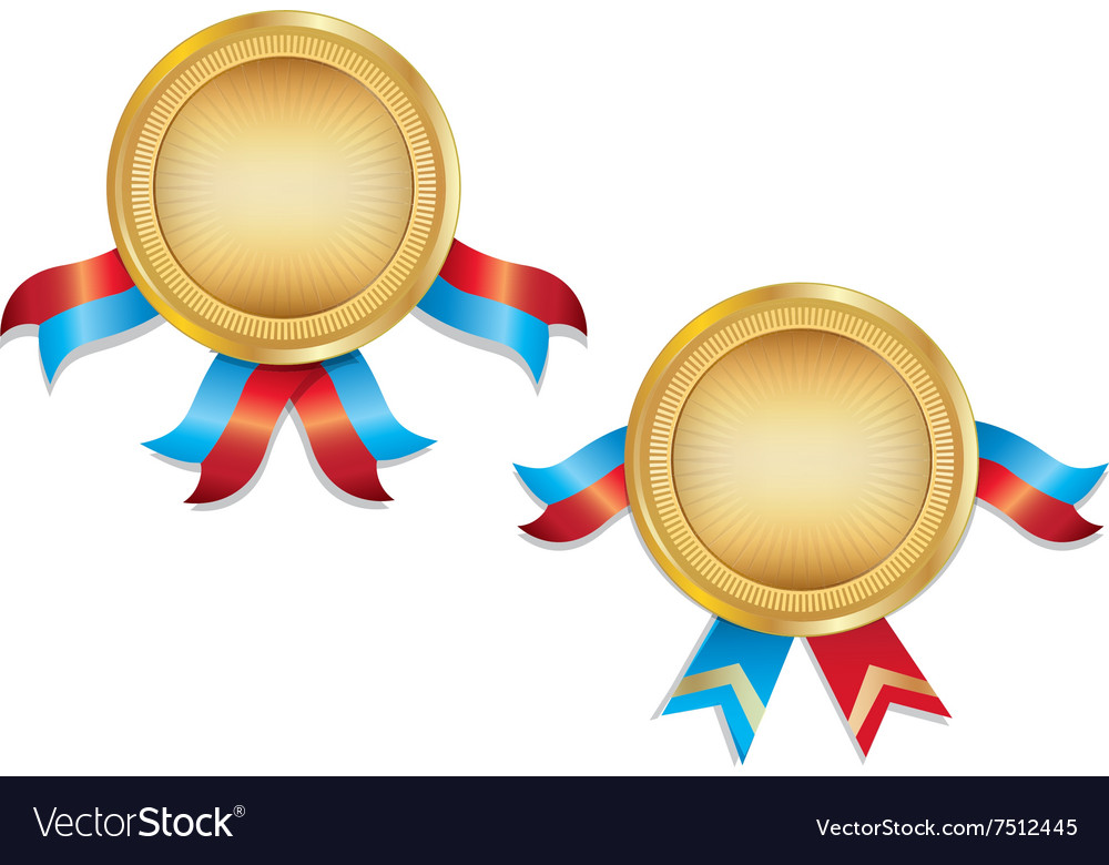 Award Medals Template With Ribbon Royalty Free Vector Image
