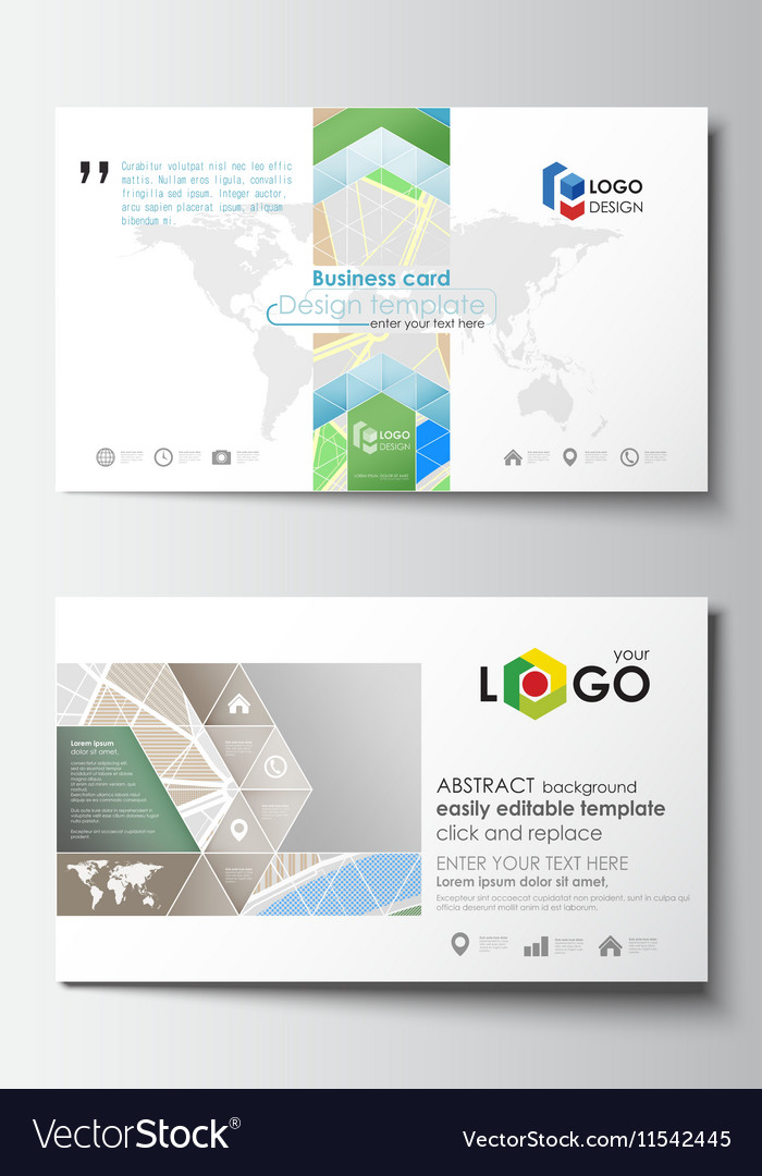 Business card templates easy editable layout vector image fbccfo Images