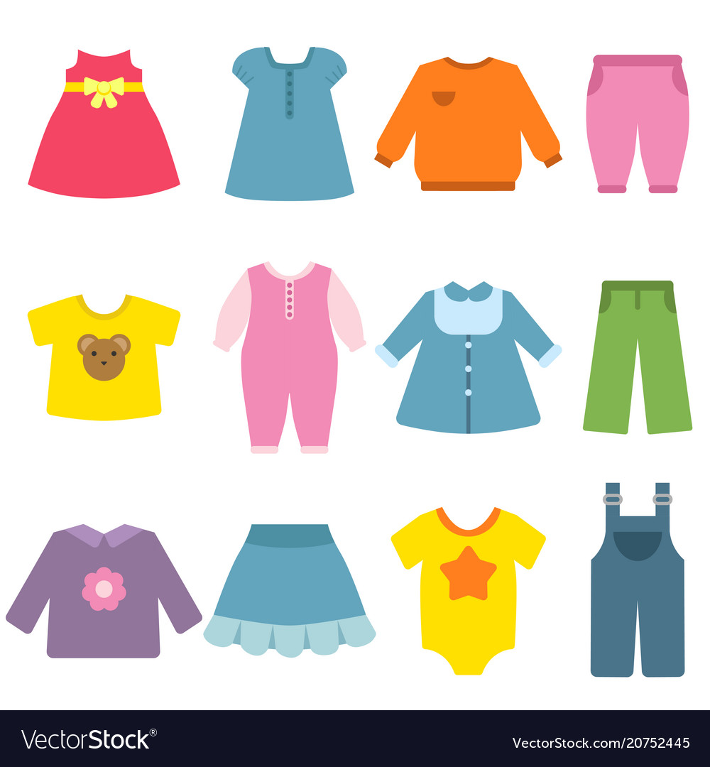 Clothes for childrens flat