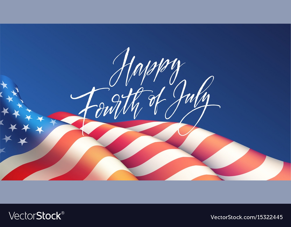 Fourth of july independence day poster or card