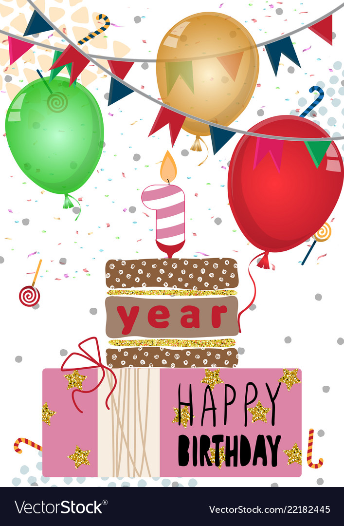 One Year Old Birthday Vector Images 45