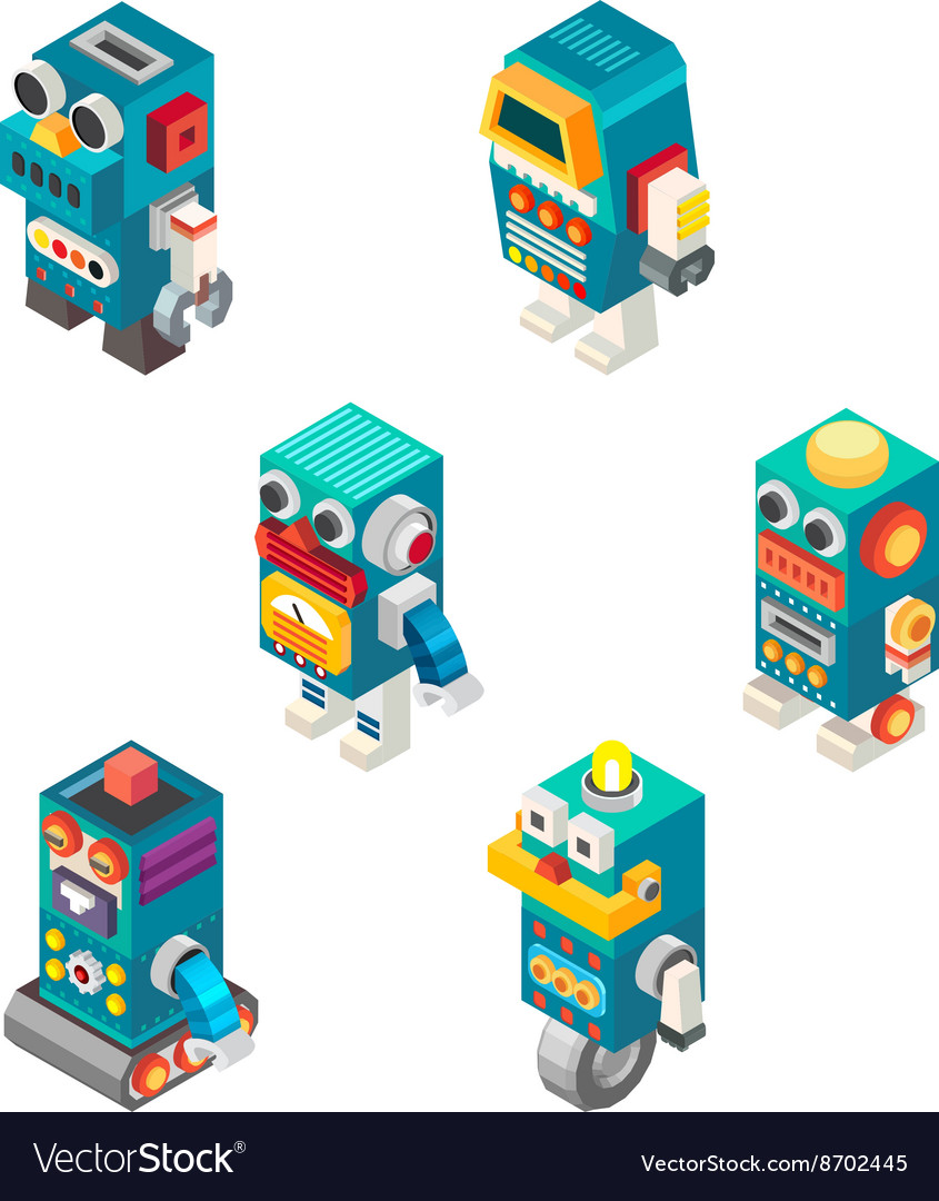 Isometric robots toy
