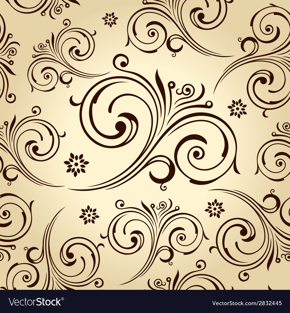 Seamless Flowers Wallpaper Vintage Background