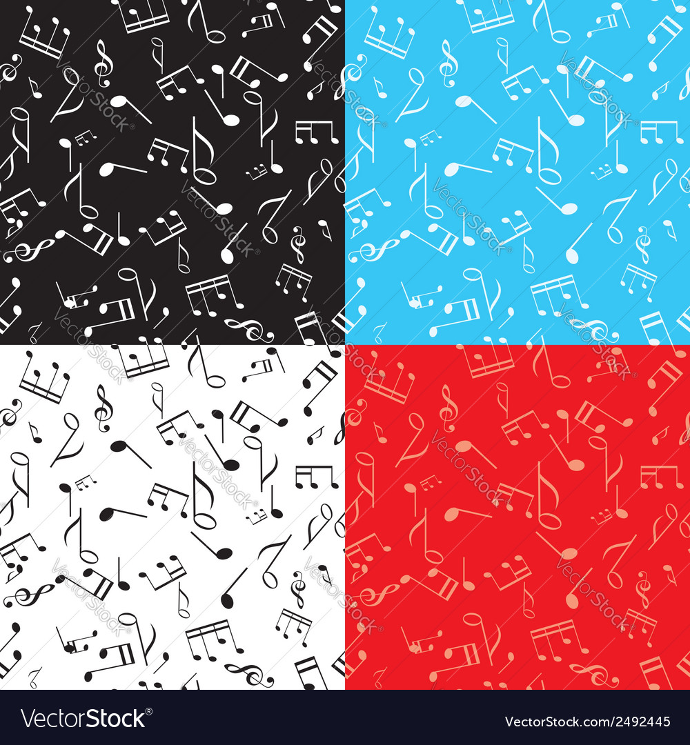 Set - seamless music textures vector image