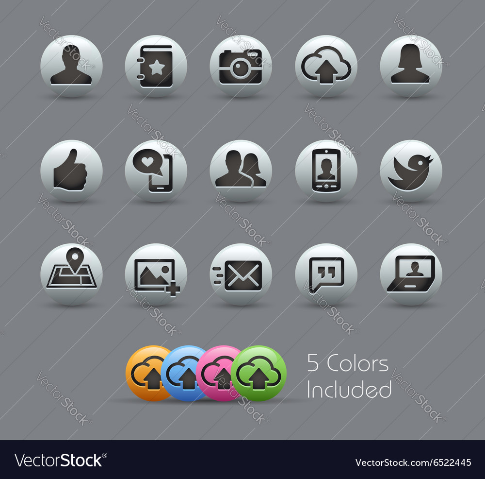 Social Web Icons Pearly Series