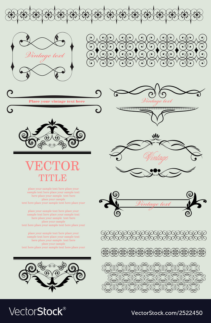 Decorative Design Elements Royalty Free Vector Image Enchanting Decorative Design Elements