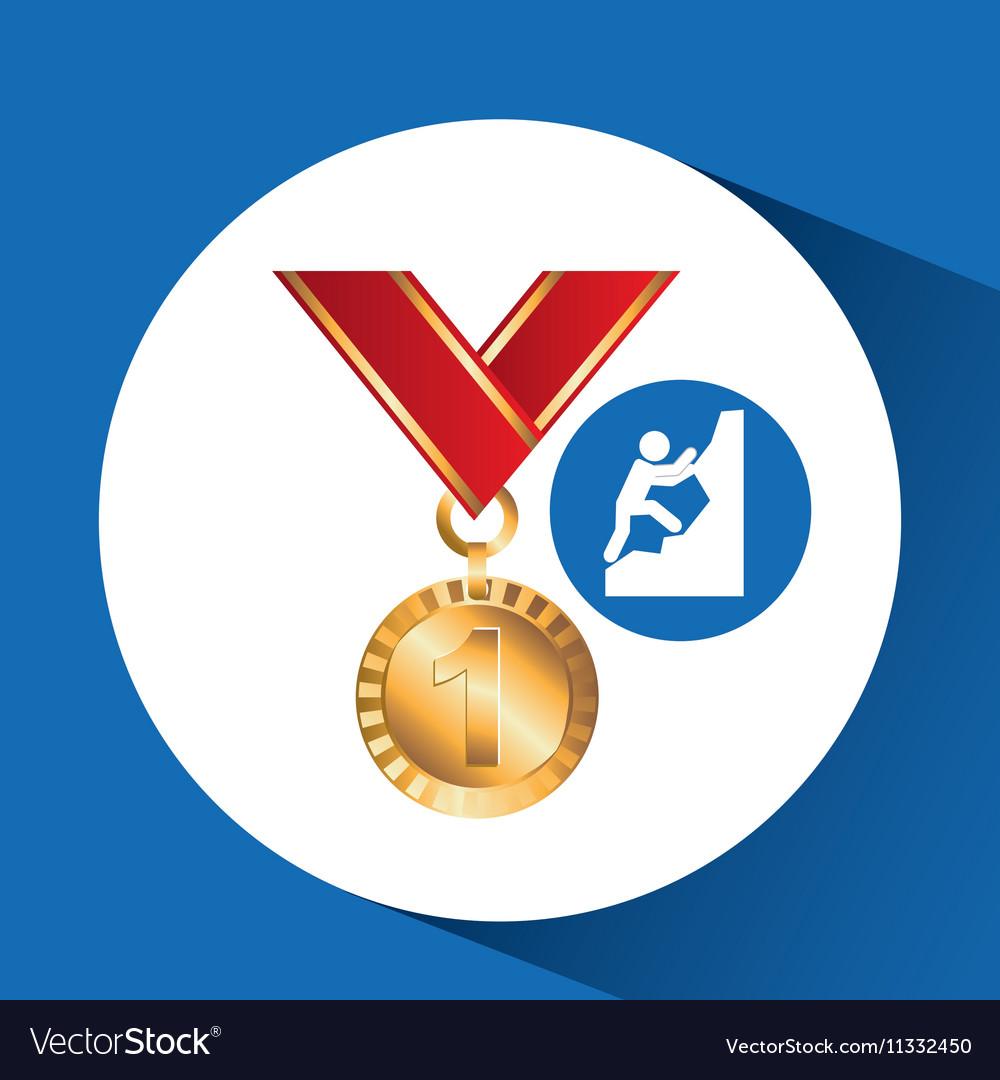 Extreme sport avatar climbing icon vector image