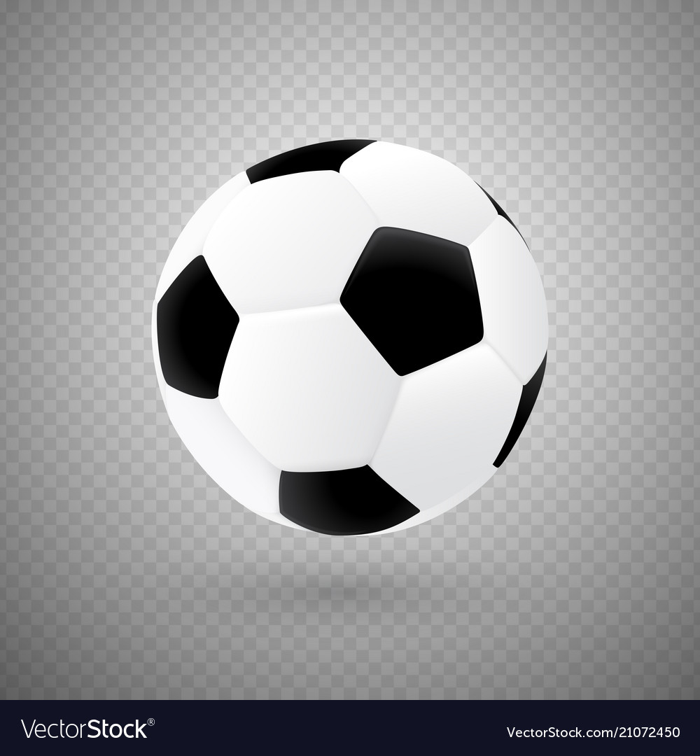 Isolated soccer ball with classic design