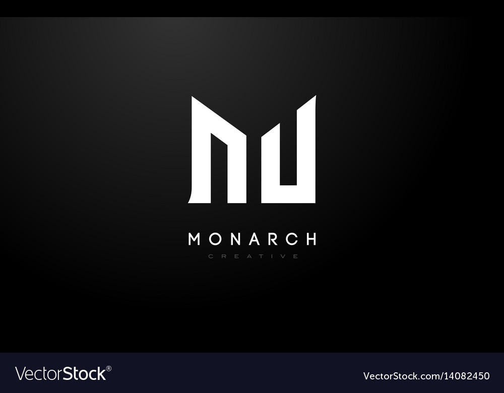 M logo m letter icon design vector image