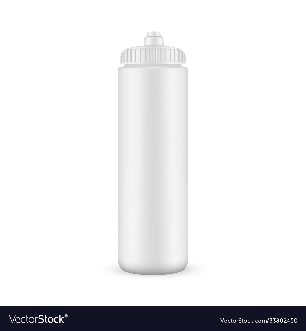 Plastic sport bottle mockup isolated