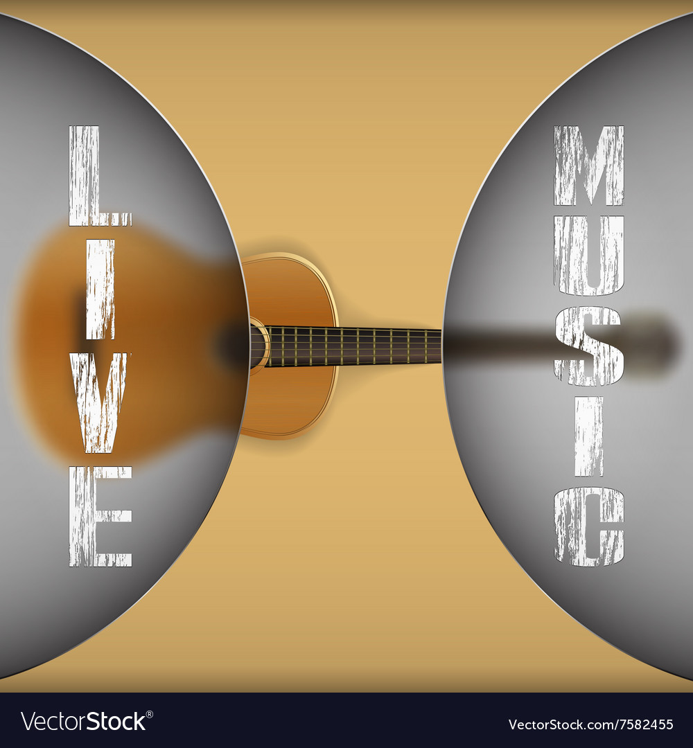 Acoustic guitar with blurred background