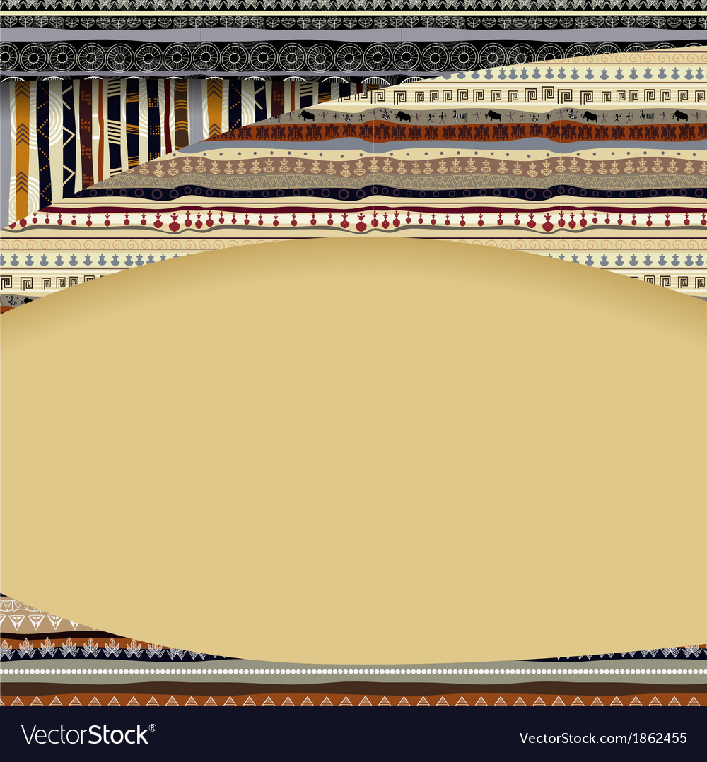 Background with African textil textures vector image