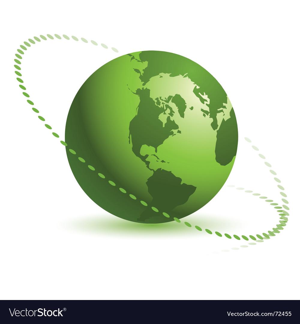 Bastract globe design vector image