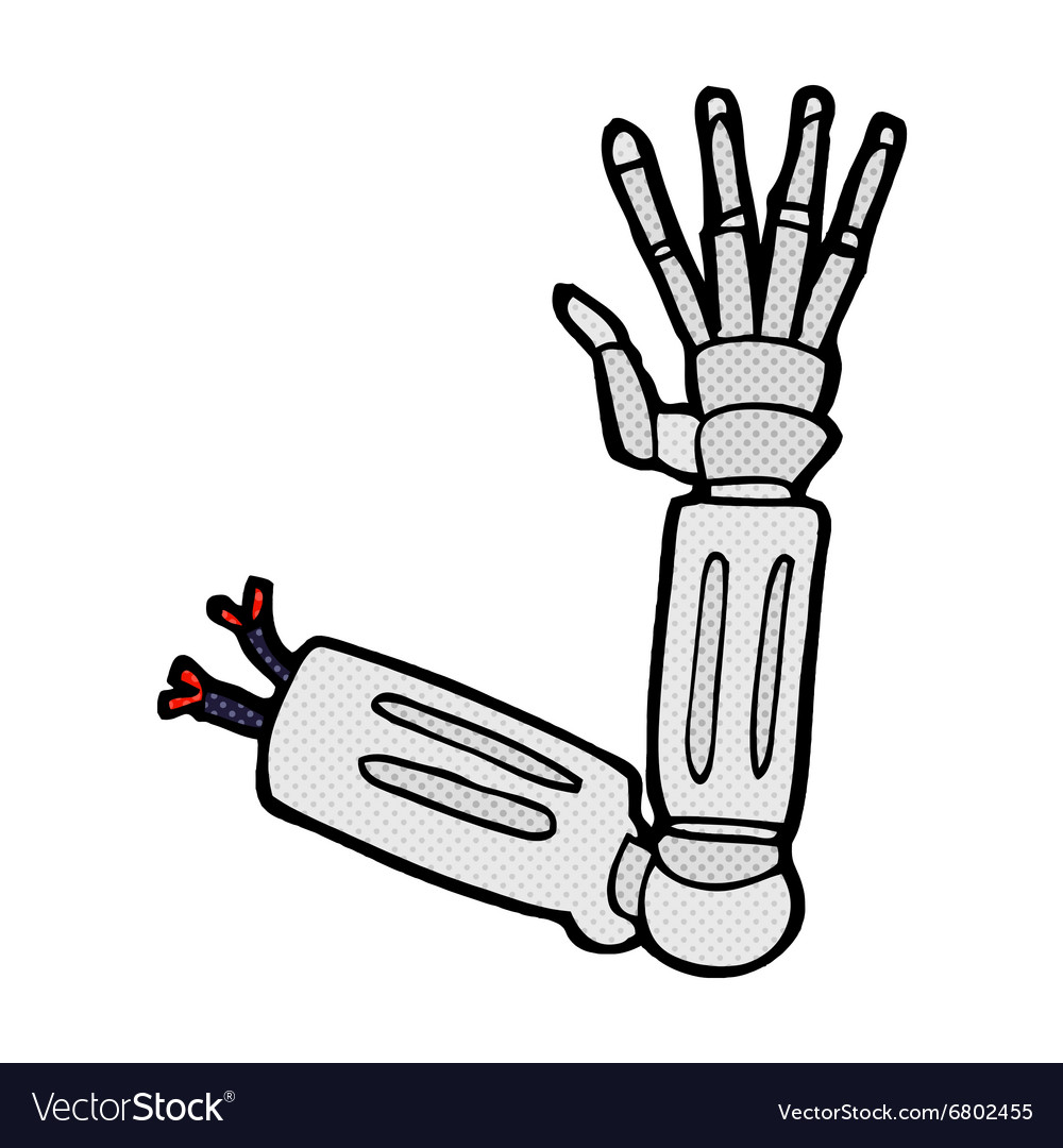 how to draw a robot arm