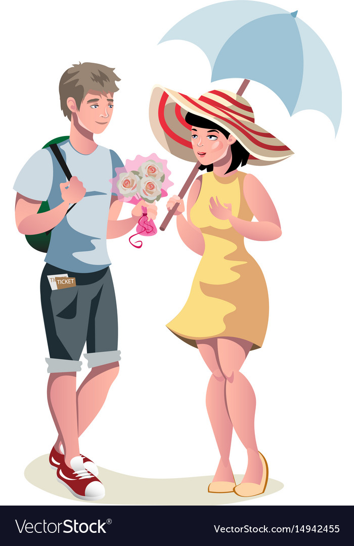 Dating of loving beautiful couple