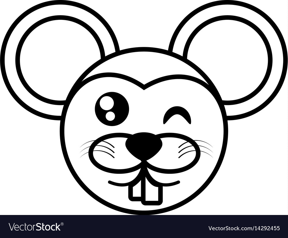 Mouse face animal outline