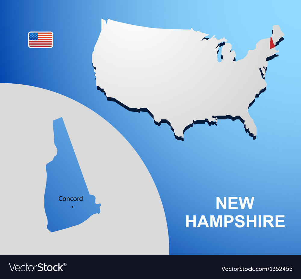 New Hampshire Royalty Free Vector Image Vectorstock