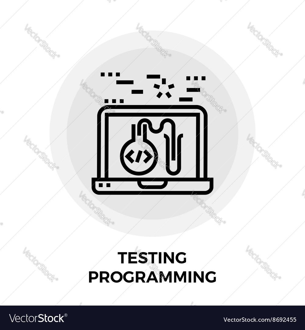 Testing Programming Line Icon