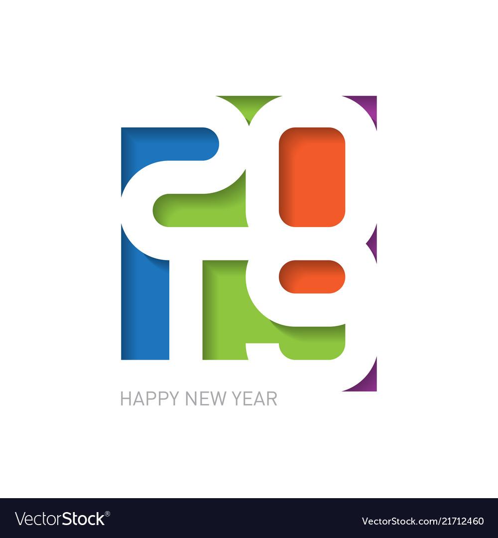 2019 happy new year - creative design template