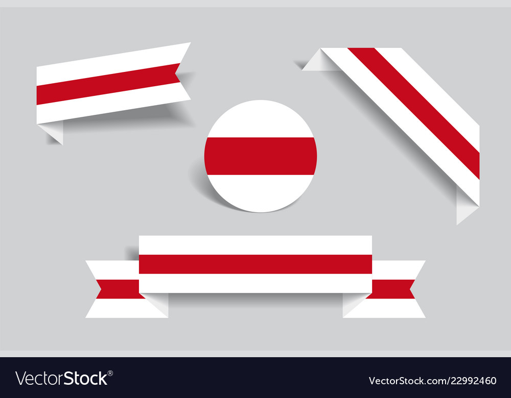 Belarusian flag stickers and labels