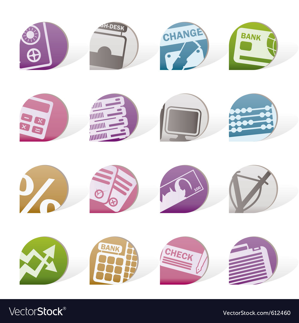 Business and finance tags vector image