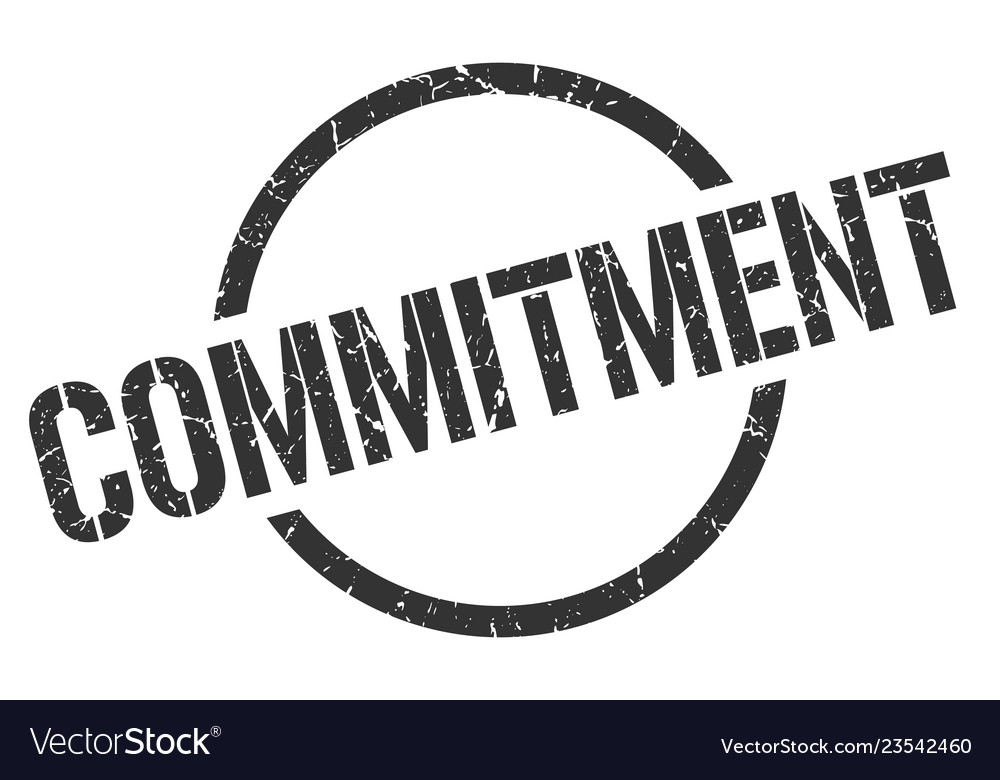 Commitment stamp Vector Image