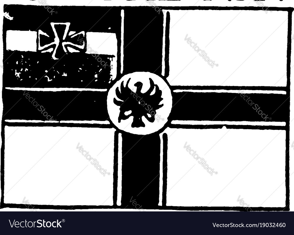 Flag of germany 1913 vintage
