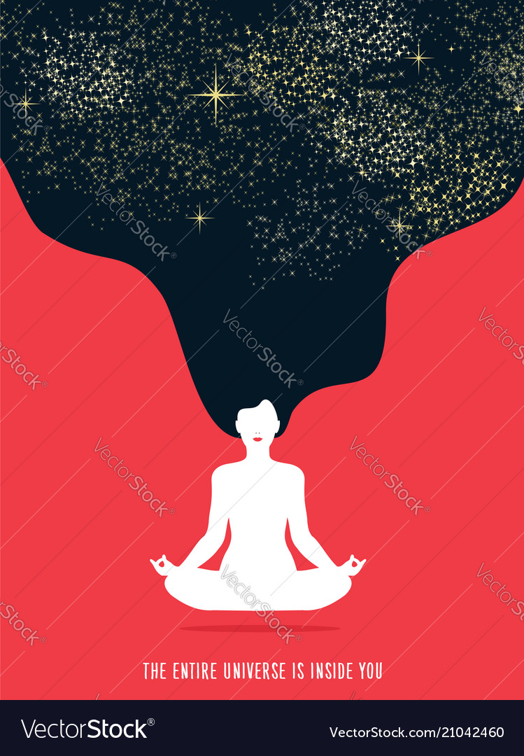 Girl doing yoga meditation for relaxation concept